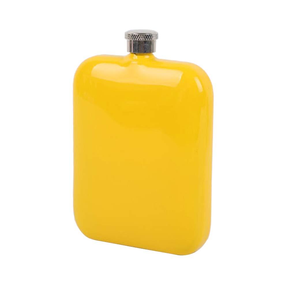 BESTONZON Botella de Whisky Petacas de Licor de Acero Inoxidable Port/átil para Whisky Licor Alcohol Rojo