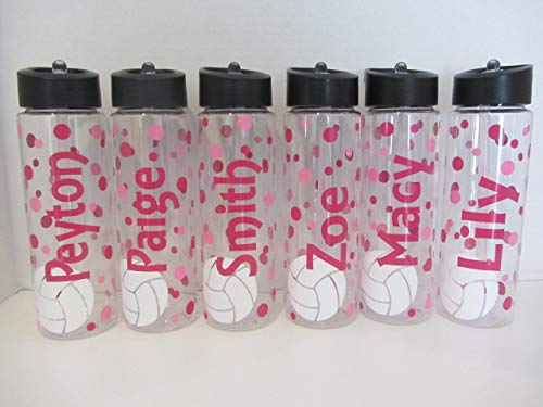 Personalized volleyball 24 ounce BPA free water bottle