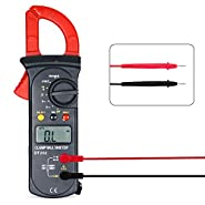 Foneso Digital Clamp Meter and Multimeter, Resistance Capacitance Tester with AC/DC Voltage Test