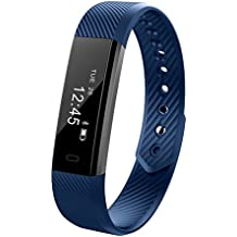 Fitness Activity Tracker, 11TT YG3 Sports Bracelet Wristband Pedometer Smart Band with Step Tracker/Calorie Counter/Sleep Monitor/Call Notification Push for iPhone iOS and Android Phone