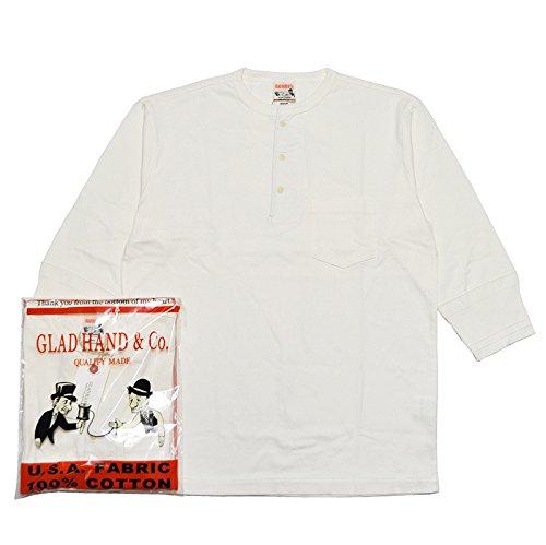 拮抗する速記落ちたGLADHAND-17 HALF SLEEVE HENRY POCKET T-SHIRTS/パックT/ヘンリーネック/ハーフスリーブ/ポケット/Tシャツ