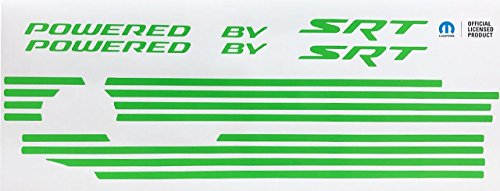 Powered by SRT Scat Pack Engine Cover Overlay Decals for Challenger and Charger - (Color: Reflective ()