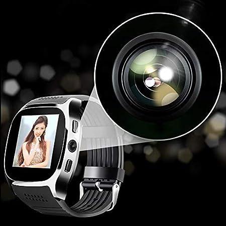 Lovelysunshiny T8 Bluetooth Reloj Inteligente con cámara Reproductor de música Soporte 2G Tarjeta SIM TF Tarjeta: Amazon.es: Hogar