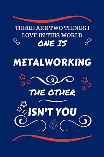 There Are Two Things I Love In This World One Is Metalworking The Other Isn