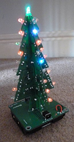 amazon com icstation diy 3d christmas tree assemble kit with 7 color flashing led for electronics solder practice industrial scientific