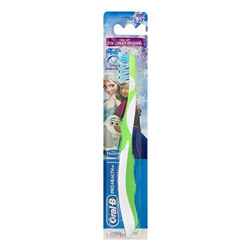 Oral-B Pro-Health Jr. Cross Action Disney Frozen Kids Toothbrush (pack of 1) (Toothbrush Kids Jr)