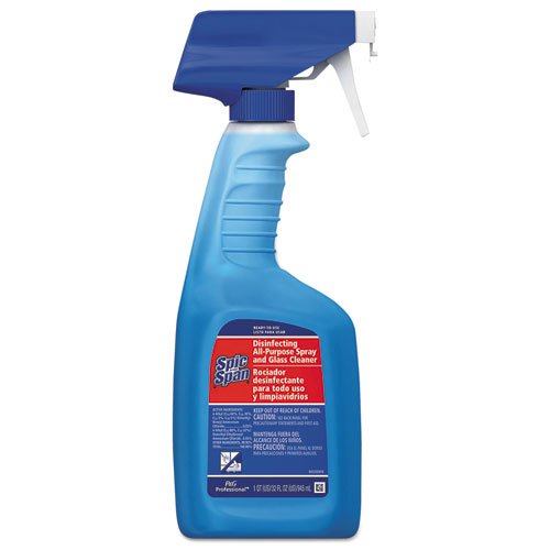 Spic and Span Professional 3-in-1 Disinfecting All-Purpose and Glass Cleaner, Fresh Scent, 32oz. Spray Bottle (Case of 8)