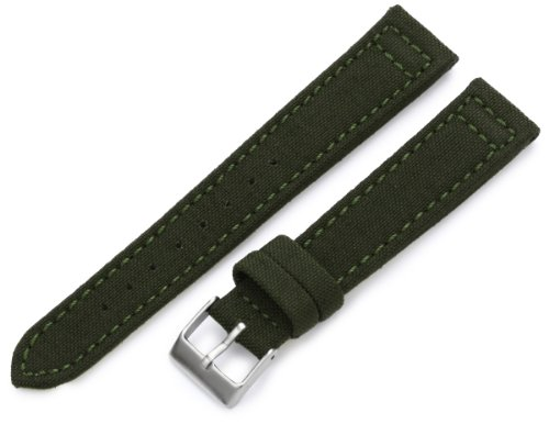 Hadley-Roma Men's MSM850RAB180 18-mm Army Green Genuine 'Cordura' Watch Strap