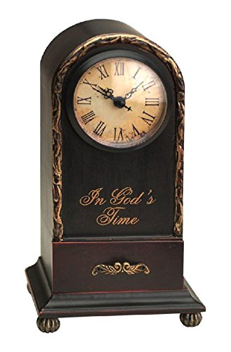 Manual Time Well Spent Table Top Analog Clock, In God's Time, (Antique Store Birdhouse)