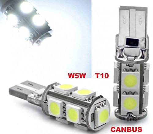 inion/® 9/Xenon Look Feu de position LED 6000/K 12/V Xenon Blanc env Canbus Lampes LED soffiten Poires avec 9/x Power SMD T10