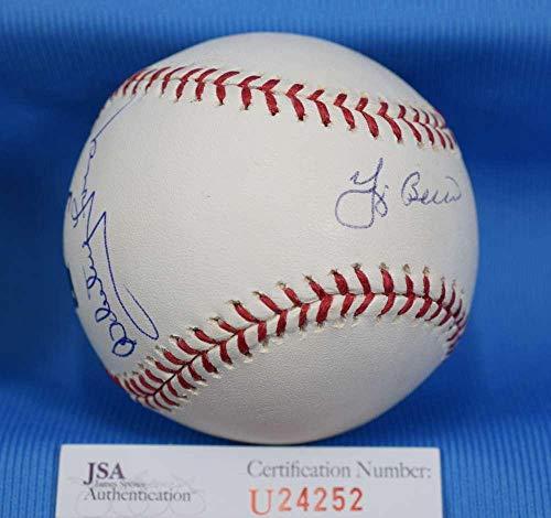 YOGI BERRA WHITEY FORD COA Signed Major League OML BasebaLL Autograph - JSA Certified - Autographed Baseballs