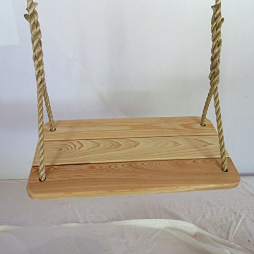 Wood Tree Swings Tree Swing/ Larger Cypress Tree Swing/with 12 Feet of Rope Per Side 12