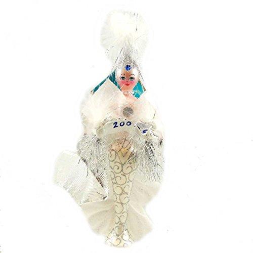 Christopher Radko JACQUELINE FROST Blown Glass Ornament Dated 2007 Italian