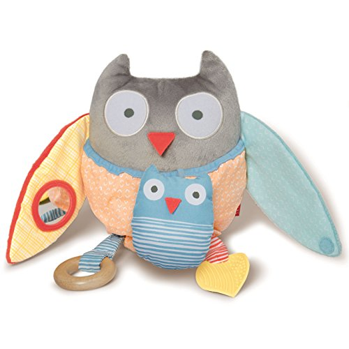Skip Hop Treetop Friends Hug and Hide Activity Owl, Grey Pastel (New Recolor)