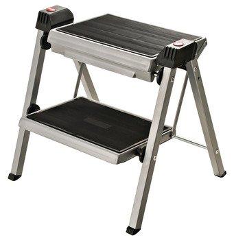 Hafele 505.04.210 Folding Step Stool Black/Silver by Hafele