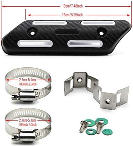 X 450//350390430480 Pceewtyt Tuyau D/éChappement de Moto Tuyau de Silencieux Couverture de Bouclier Thermique Convient pour CRF250 CRF450 CRF250X CRF450X CRF 250 Noir