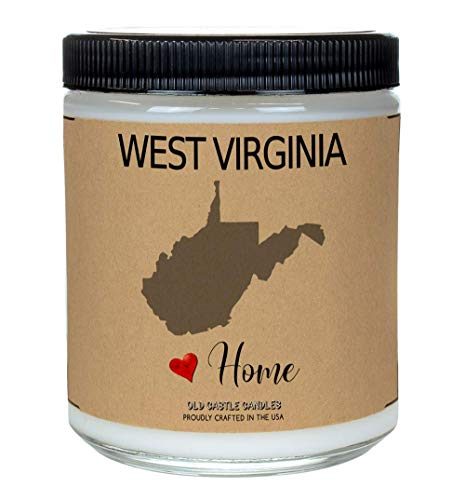 - West Virginia Candle Homesick Gift, New Home College Dorm Accessories, Housewarming Gifts