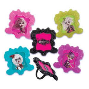 Monster High Bratz (CLEARANCE FREE STANDARD SHIPPING - 24 Rings - Bratzillaz House of Witchez - with a Bonus Cupcake Tips Card - We Ship Within 1 Business Day!)