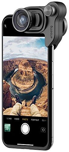 ography Box Set for iPhone X Camera Lens Accessory: Black Lens/Black Clip - Includes Fisheye, Super-Wide, Macro 15X Lenses (Perfect Mount Macro)