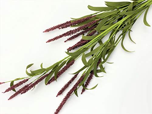 Elegant Blooms & Things Burgundy Mini Cattail Long stem, Tall, Floral Arrangement, Urn, Entryway, Accent, Vase