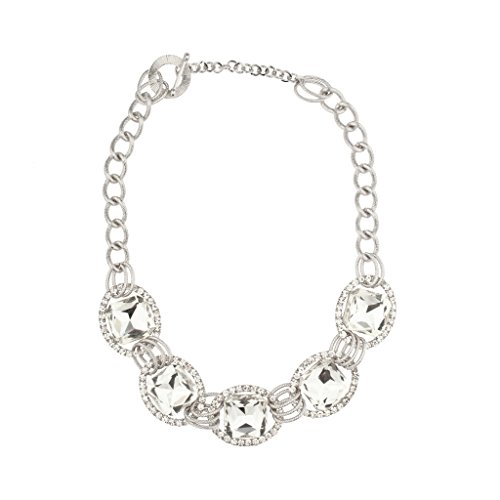 [Lux Accessories Bridal Pave Crystal Chain Link Statement Necklace Matching Earrings] (Ladies Ring Leader Costume)