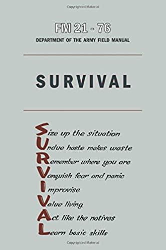 fm 21 76 department of the army field manual survival department of rh amazon com Army Field Manual Library Army Field Manual 3 21.5