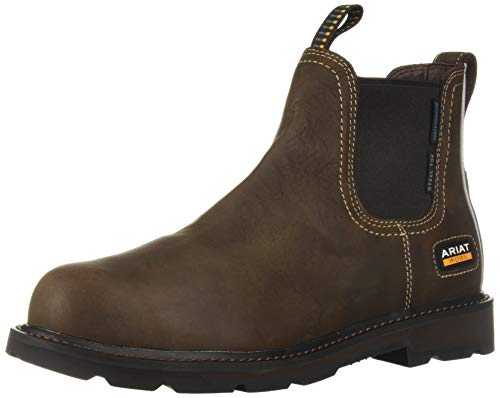 Ariat Work Men's Groundbreaker H2O Steel Toe Western Boot, Dark Brown-2, 9.5 2E US