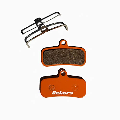 Gekors Ceramic Bicycle Disc Brake Pads for Shimano Saint M810/Zee M640, 1 Pair with a Spring