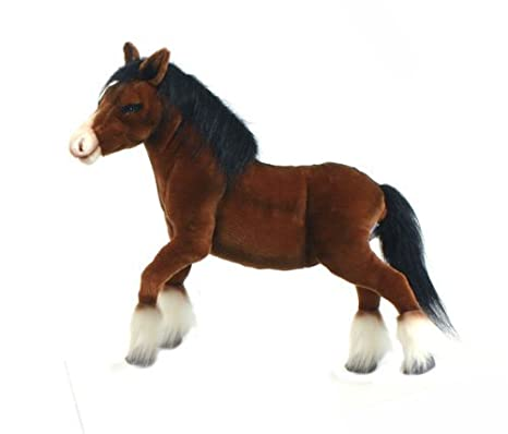 Amazon.com: Hansa Clydesdale Horse Plush Toy 15 High by Hansa: Toys & Games