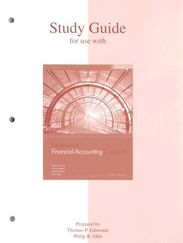Study Guide to accompany Fundamental Financial Accounting Concepts