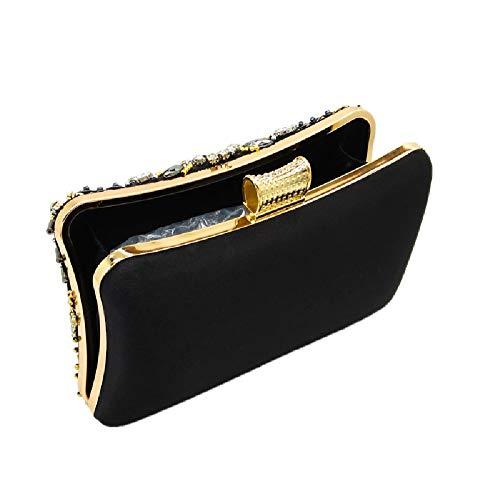 2 YHB512 Noir Femme Noir Noir BESTWALED Pochette pour pOZWqB