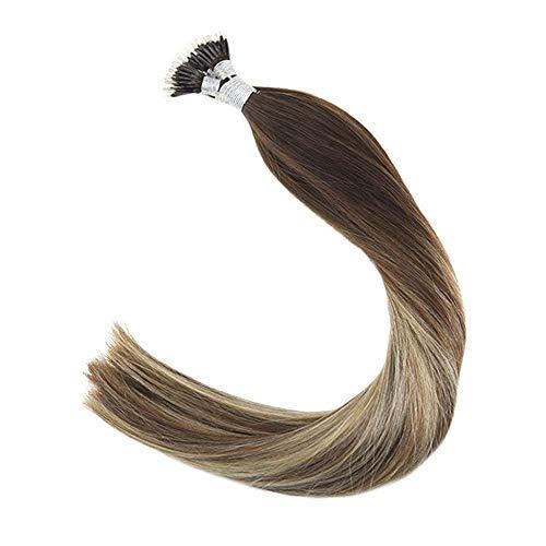 LaaVoo 20 Pulgadas Remy Nano Ring Hair Extensions #Balayage Marrón ...