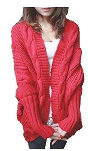 Ghope mit Rouge Cardigan Strick ige fr Lange L Langarm Damen Strick Herbst Pullover Mantel Strickjacke Winter rmel Strickjacke Causual Kimono Strickmantel Unregelm Loose ssige Outwear Cardigan rxwqrY4p1v