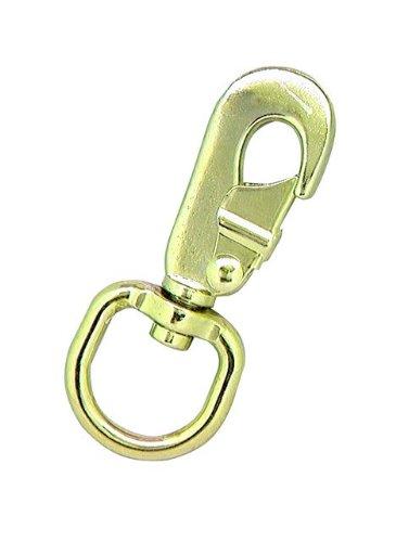 Lehigh 7018BS-6 3-3/8-Inch by 9/16-Inch 60-Pound Round Brass Swivel Eye Quick-Snap - Quicksnap Eye