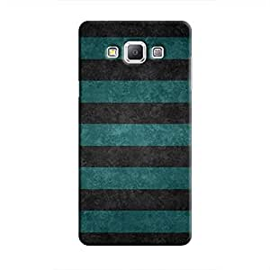 Cover It Up - Teal and Black Stripes Galaxy A8Hard Case