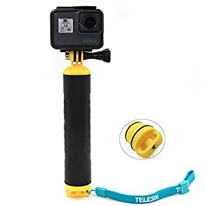 Vicdozia Waterproof Floating Hand Grip Tripod Mount Handle Pole Diving Stick Handheld Monopod for GoPro Hero 6/5/4/Session/3+/3/2/1 AKASO SJCAM Xiaomi Yi and More Cameras