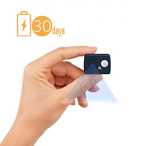 (Hidden Camera,Spy Camera 1080P HD Mini Wireless Surveillance Camera Home Security Cam with Night Vision 30days Long Standby on PIR Motion Detection for Home and Office)