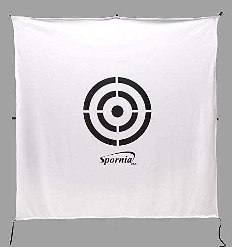 Spornia Golf Net Target (64 inches x 64 inches) | Circle Backstop Target | Golf Simulator Screen | Training Aid, Driving Range Target (2 in 1 Reversible)