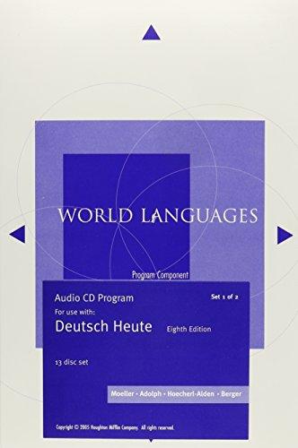 Audio CD-ROM Program for Moeller's Deutsch Heute: Introductory German, 8th (World Languages)