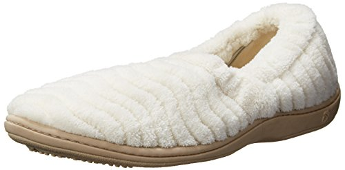 Women's Acorn 'Spa Support' Moc Slipper, Size Medium - White