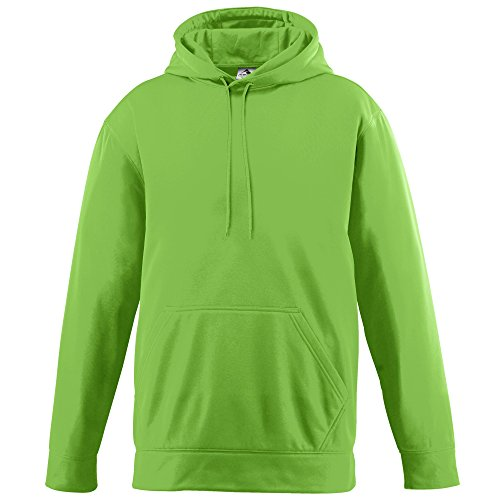 Augusta Sportswear 5505 Men's Wicking Fleece Hooded Sweatshirt, XXX-Large, Lime