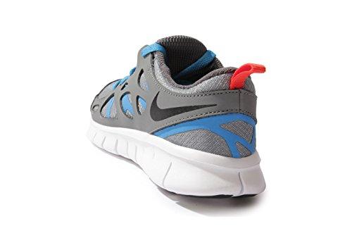 Nike Free Run 2 (gs) Kör Pojkar Löparskor Kyla Grå Svart Bild Blå 094