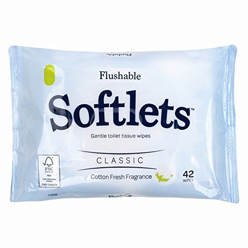 42 Flushable Softlets Toilet Wipes Y-97529