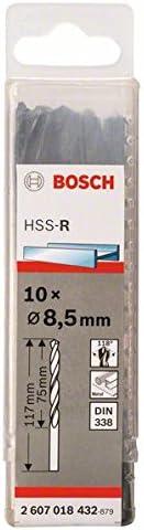 Bosch Professional Metallbohrer HSS-R rollgewalzt (10 Stück, Ø 8,5 mm)