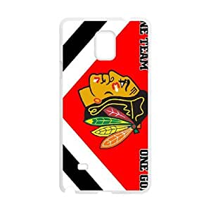 Sports chicago blackhawks Samsung Galaxy Note 4 Cell Phone Case White Special Tribute p6xr_3463930
