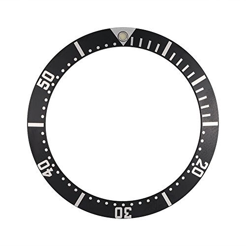 VGEBY Watch Bezel Insert, Ceramic Wristwatch Bezel Loop Replacement Parts 36mm(Black)
