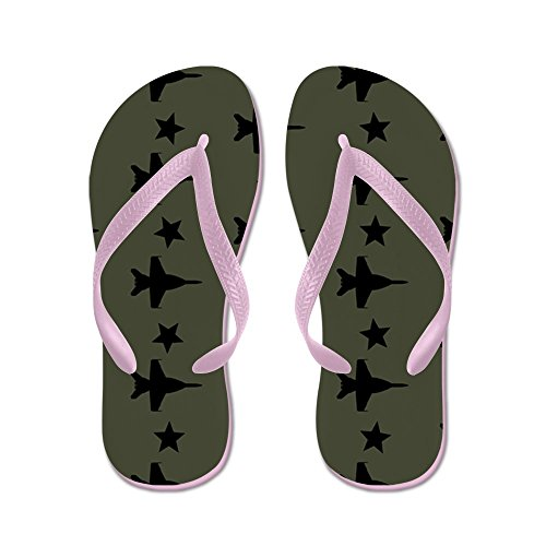 CafePress F-18 Hornet Fighter Jet Pattern (Milita - Flip Flops, Funny Thong Sandals, Beach Sandals