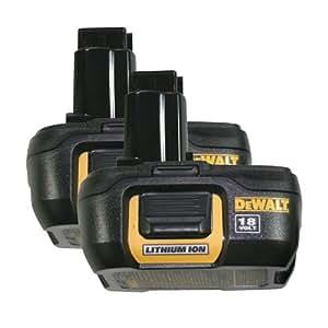 Dewalt Dc9181 2pk 18 Volt Compact Li Ion Battery 2 Pack