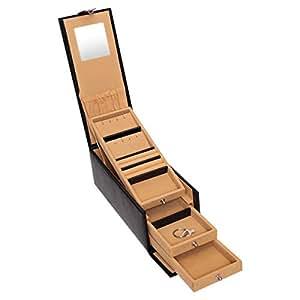 Laveri Jewelry Locker Box, Black