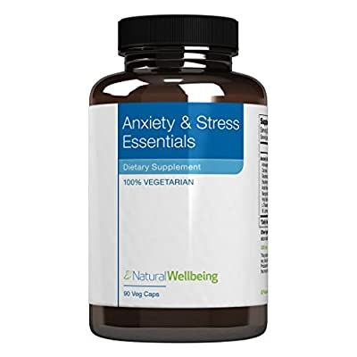 Natural Wellbeing - Anxiety & Stress Essentials - 90 Vegetarian Capsules - Herbal Relaxation